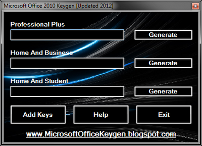 microsoft office home and student 2010 keygen